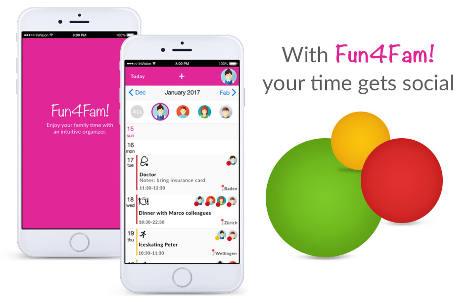 Fun4Fam - shared family calendar